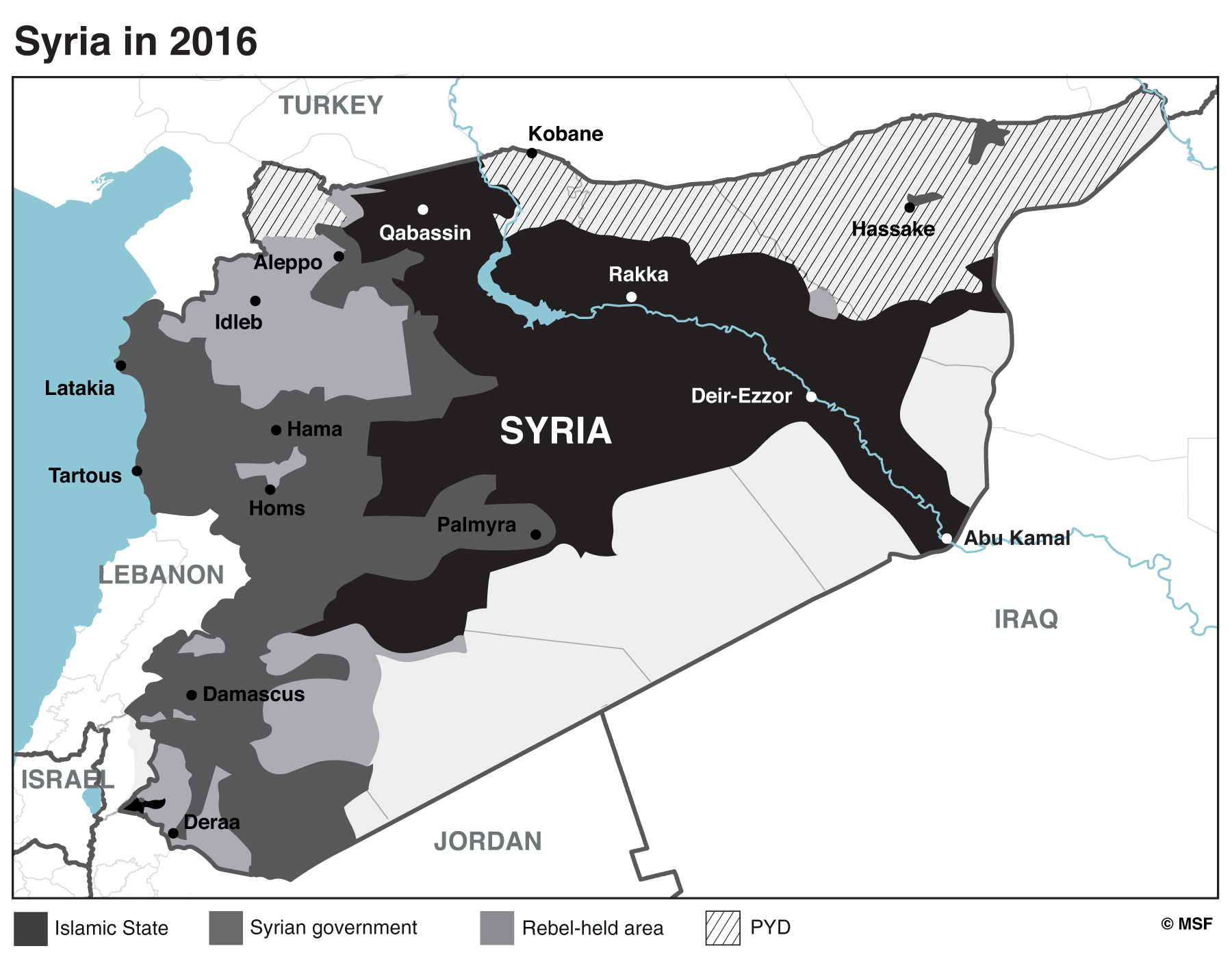 Figure 1 : Syria in 2016.