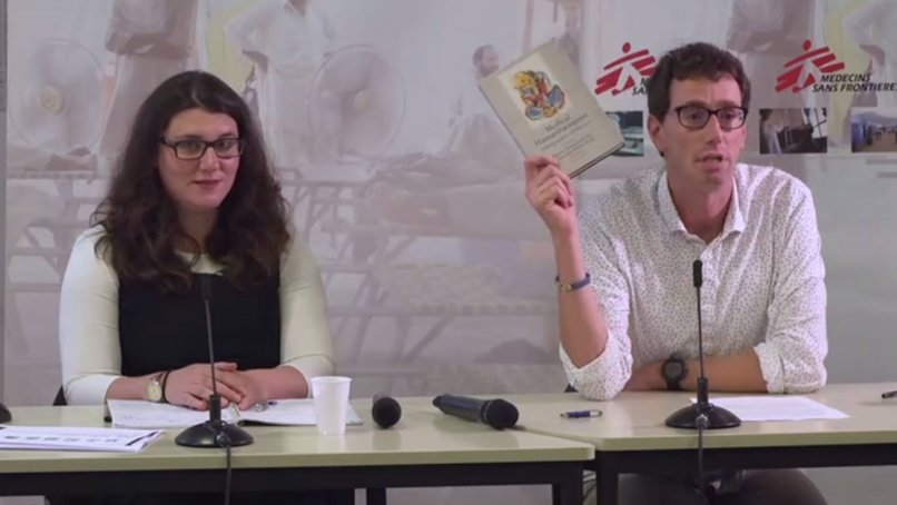 Sharon Abramowitz and Michaël Neuman during MSF Crash conference about humanitarian anthropology