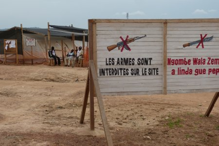 MSF clinic located in M'poko's IDP camp, near Bangui's airport in CAR