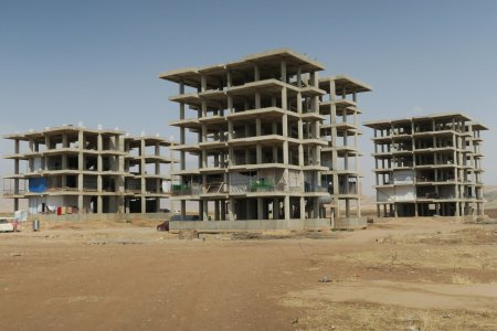 Des immeubles en construction en Irak