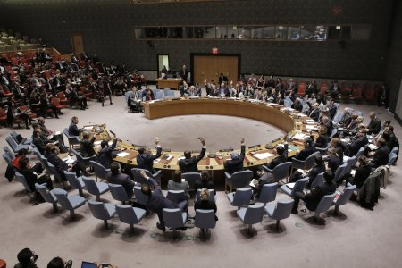 The United Nations Security Council votes