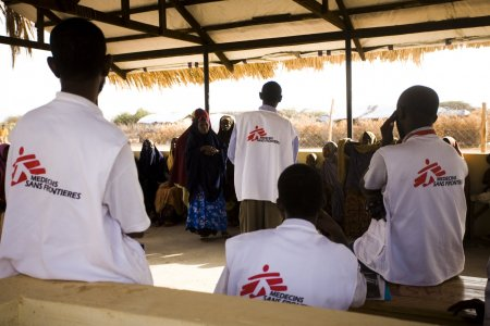 MSF staff at the health care clinic in Dagahaley Refugee camp, Dadaab